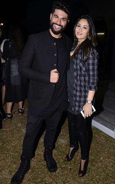 mira rajput with kunal rawal at gq 2016