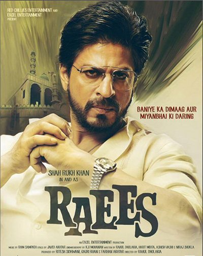 shah rukh khan in and as raees