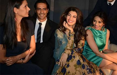 arjun rampal partying with his wife and bollywood actress jacqueline