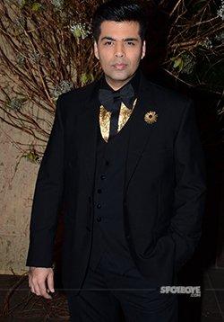 karan johar snapped at an event