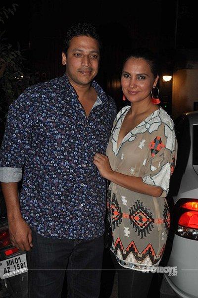mahesh and lara at the party