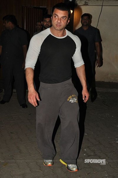 sohail khan spanned at the party