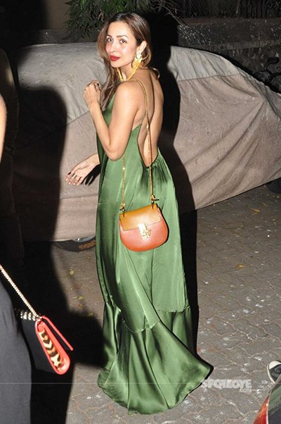 malaika arora snapped leaving the party