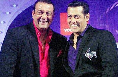 sanjay dutt and salman khan in happier days