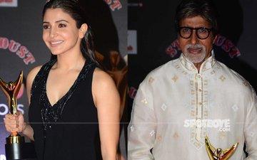 Anushka Sharma-Amitabh Bachchan Win The Stardust Best Actor Award 2016