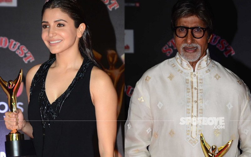 Anushka Sharma-Amitabh Bachchan Win The Stardust Best Actor Award 2016
