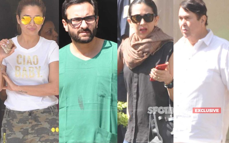 EXCLUSIVE PICS: Saif Ali Khan, Karisma & Randhir Kapoor By Kareena's Side At The Breach Candy Hospital