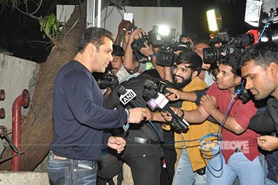 salman talking to the media