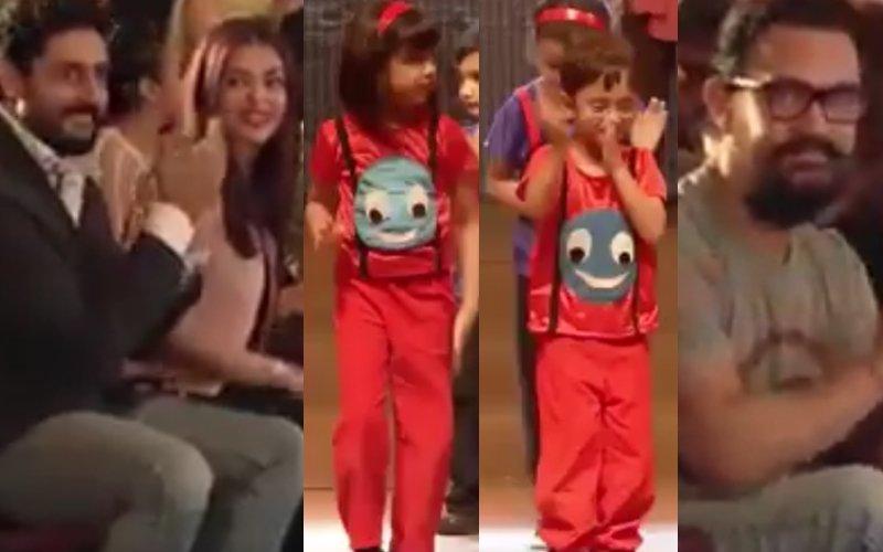 Aaradhya & Azad Dance Together As Aishwarya, Abhishek & Aamir Cheer Them On