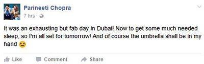 parineeti chopra post an indirect apology on facebook regarding the unbrella fiasco
