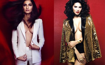 Who Flaunted The Cleavage Better? Sonam Kapoor Or Sunny Leone?