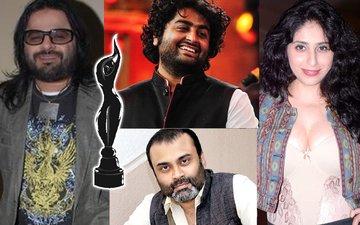 FILMFARE AWARDS 2017: Neha Bhasin, Arijit Singh, Amitabh Bhattacharya, Pritam Bag Music Trophies