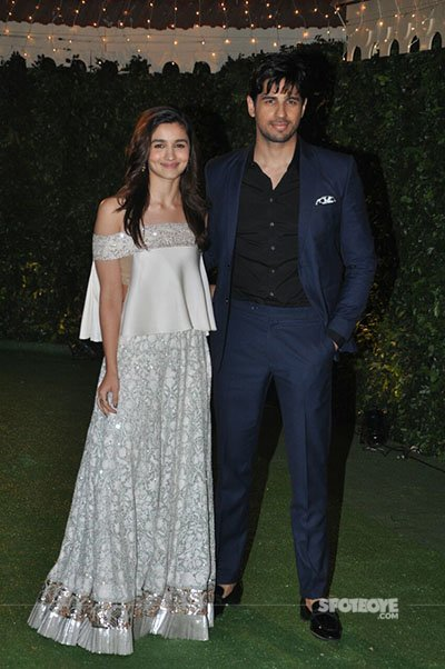 allia bhatt and sidharth malhotra at ronnie screwala daughter wedding