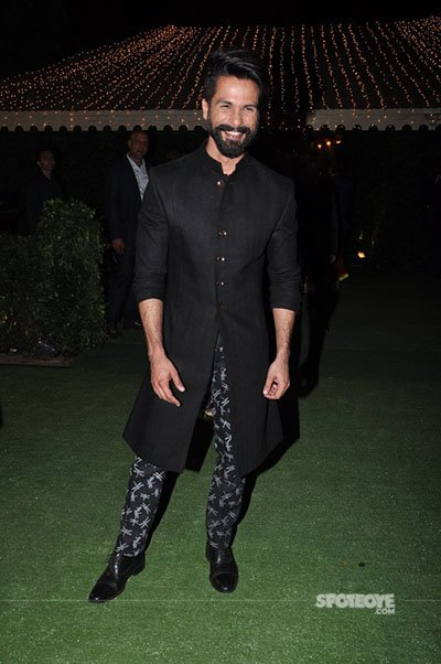 shahid kapoor at ronnie screwala daughter wedding