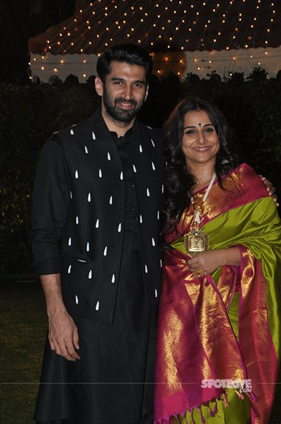 aditya roy kapur and vidya balan at ronnie screwala daughter wedding