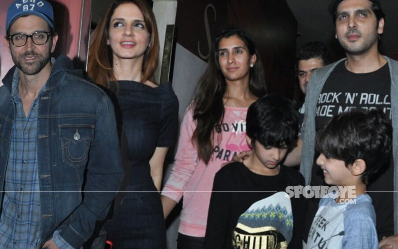 Hrithik Roshan Shows Kaabil To Hrehaan, Hridhaan & Sussanne FIRST
