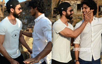 IN PICS: Shahid Kapoor On The Sets Of Brother Ishaan Khatter's Debut Film