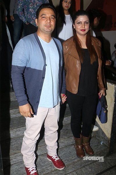 ahmed khan and wife at kaabil special screening