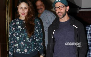 Kareena Lets Her Hair Down, Hrithik Smiles From Ear To Ear!