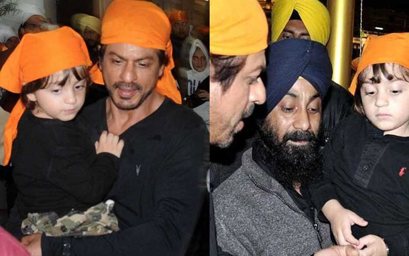 Shah Rukh Khan And AbRam Visit The Golden Temple