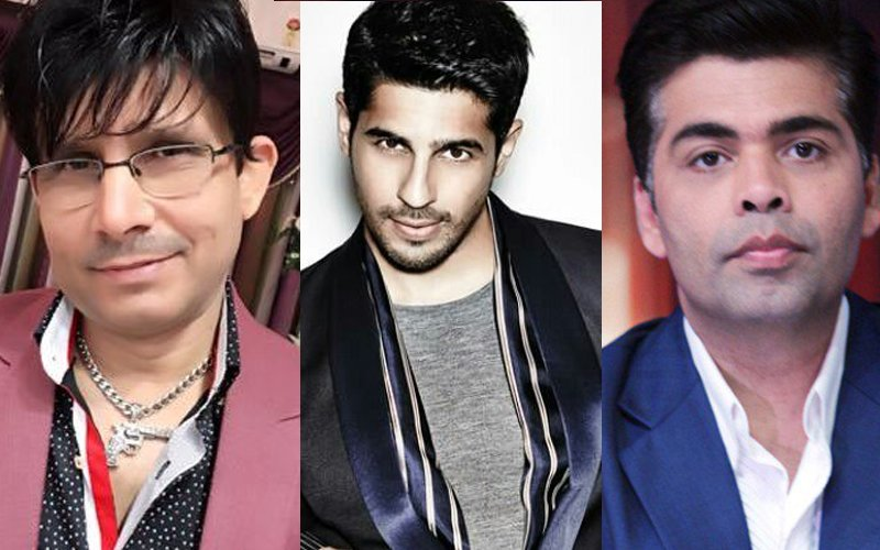 KRK Takes Panga With KJo's Student. Calls Sidharth Malhotra 'FINISHED'!