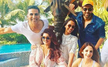 Akshay & Twinkle Treat Hrithik-Sussanne For A Perfect Sunday Lunch!
