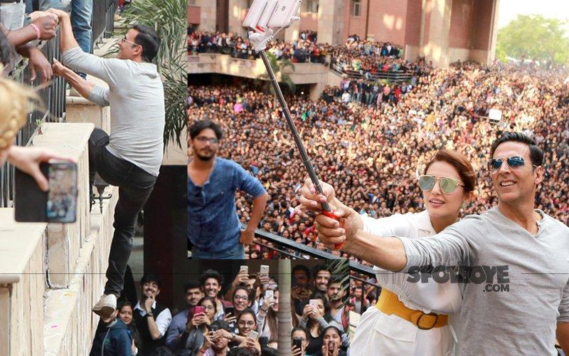 WATCH: Khiladi Akshay Kumar Balances On A Ledge While 5,000 Fans Cheer Him On