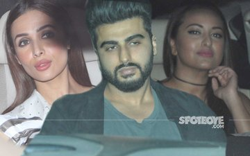 LOVE TRIANGLE: Malaika Arora-Arjun Kapoor-Sonakshi Sinha Party Under One Roof!