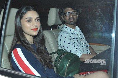 aditi rao hydari and companion snapped at karan johars valentines party