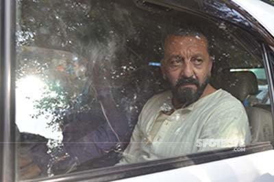 sanjay dutt in the car