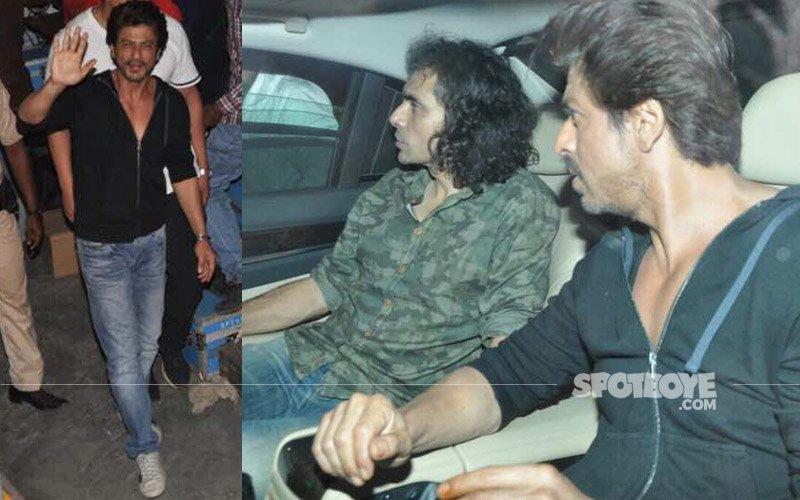 IN PICS: Shah Rukh shoots for Imtiaz Ali's film in Bandra, Mumbai