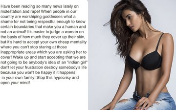 Disha Patani Bursts Out Against Slut Shaming, Compares It To Rape