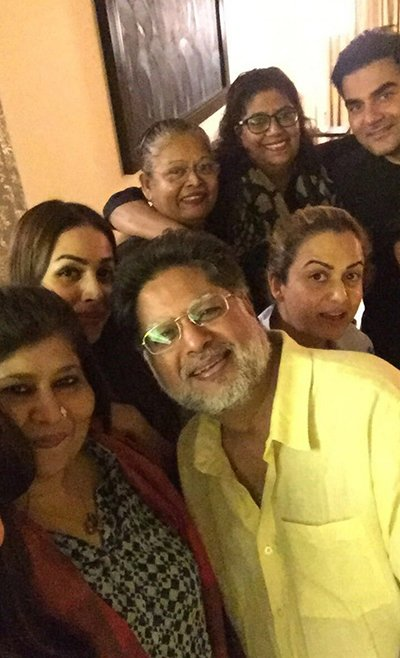 arbaaz malaika come together for her fathers bday