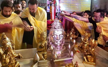 Sanjay Dutt Prays On Mahashivratri In Agra Temple; In Pics