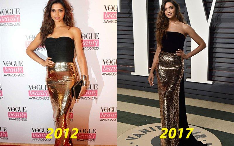 OOPS! Deepika Padukone Repeats Her 2012 Look At Oscars 2017
