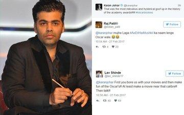 Karan Johar Disses The Oscars, Gets Trolled Instead