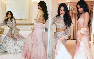 SEXY IN FEATHERS: Jhanvi & Khushi Kapoor's Bathroom Photo Shoot