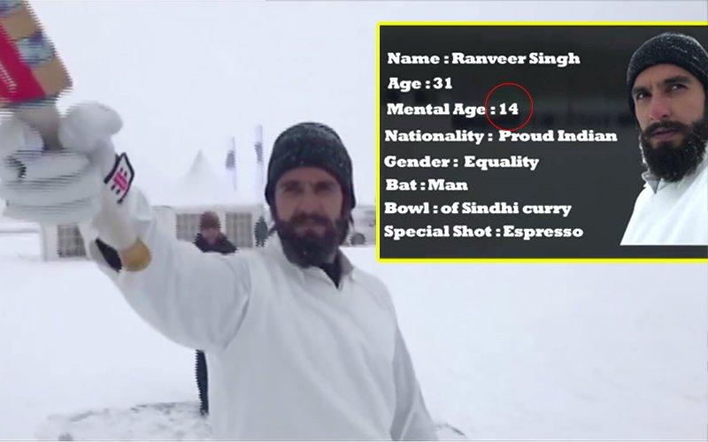 Ranveer Singh Says His Mental Age Is JUST 14!