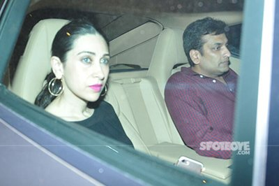 karisma kapoor and sandeep toshniwal at aarbaaz khans party