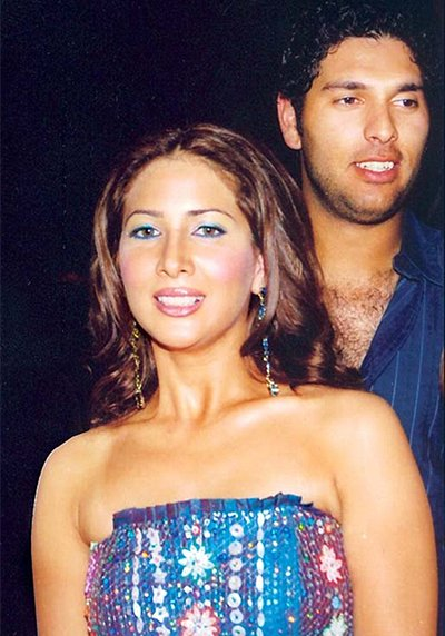 Image result for yuvraj singh kim sharma pic