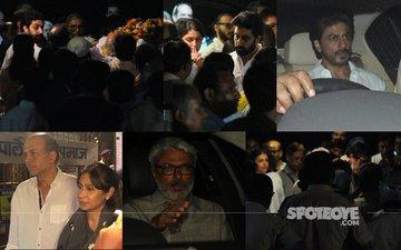 Shah Rukh Khan, Sanjay Leela Bhansali, Ashutosh Gowariker Attend Aishwarya Rai's Father's Funeral