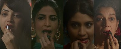 the cast of lipstick under my burkha konkona sensharma ratna pathak shah aahana kumra and plabita borthakur
