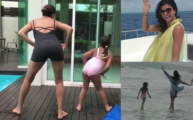 Sushmita Sen & Daughter's Version Of Ed Sheeran's 'Shape Of You' Is Both Sexy & Cute