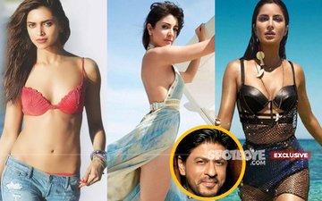 Three Way Fight Over Shah Rukh Khan: Deepika Padukone Vs Anushka Sharma Vs Katrina Kaif
