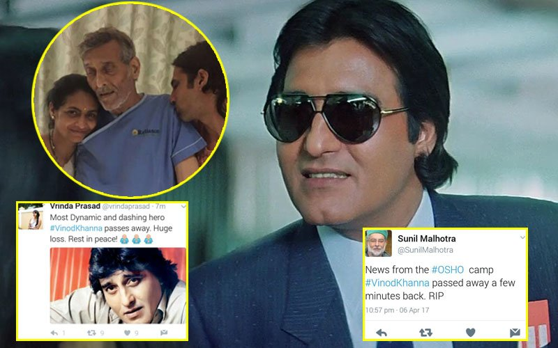 SHAME On Those Who Spread FALSE News That Vinod Khanna Is No More...