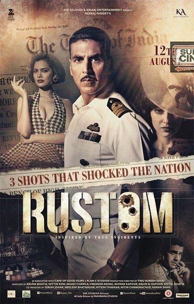 rustom movie poster starring akshay kumar