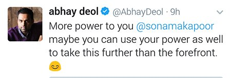 abhay deols reply to sonam kapoor for bringing esha deols ad campaign in the forefront