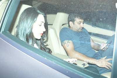 karisma kapoor and sandeep toshniwal at the kareena kapoor party spotted together