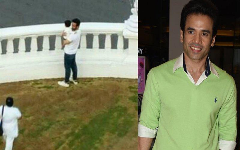 Tusshar Kapoor Brings Along Son Laksshya To Golmaal 4 Shoot