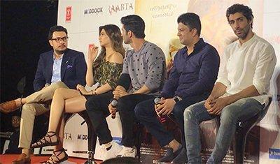 kriti sanon sushant singh rajput at raabata trailer launch
